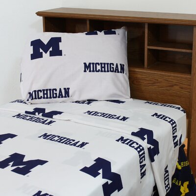 NCAA Michigan Sheet Set Size: Extra-Long Twin