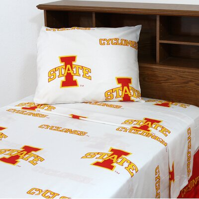 NCAA Iowa State Sheet Set Size: Queen