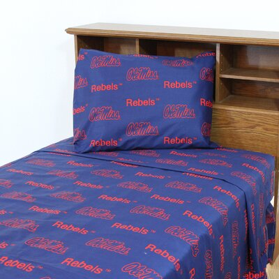 NCAA Ole Miss Sheet Set Size: Full