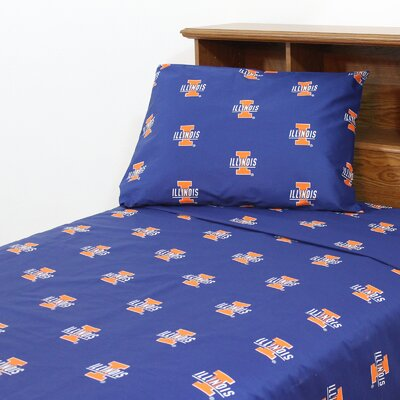 NCAA Illinois Sheet Set Size: Twin