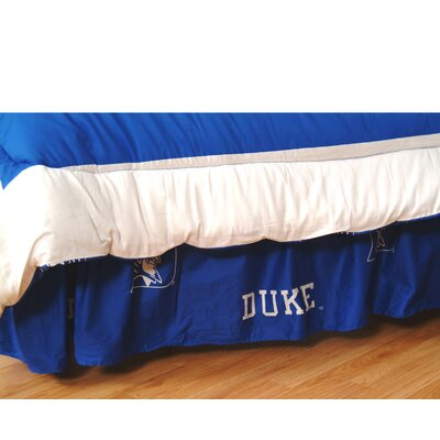 NCAA Duke Dust Ruffle 200 Thread Count Bed Skirt Size: King