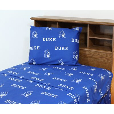 NCAA Duke Sheet Set Size: Queen