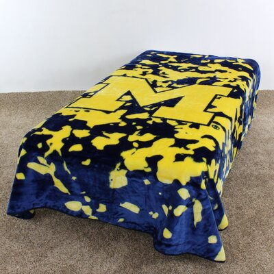 NCAA Michigan Throw Blanket