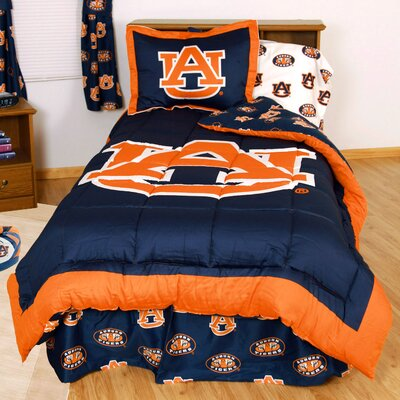 NCAA Auburn Reversible Bed in a Bag Set Size: Twin