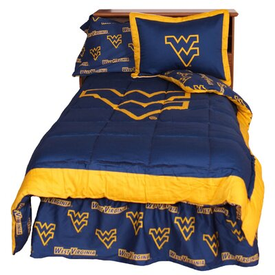 NCAA West Virginia Reversible Comforter Set Size: Queen