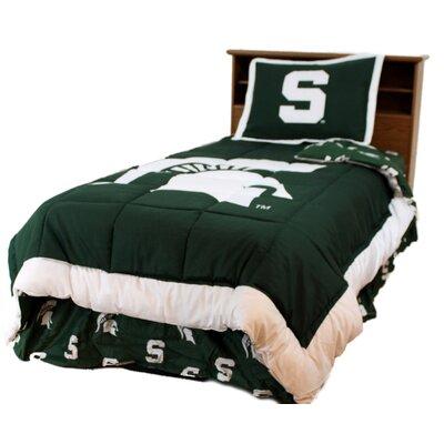 NCAA Michigan State Reversible Comforter Set Size: Queen