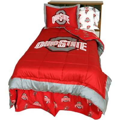 NCAA Ohio State Reversible Comforter Set Size: Queen