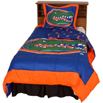 NCAA Florida Gators Reversible Comforter Set Size: Queen
