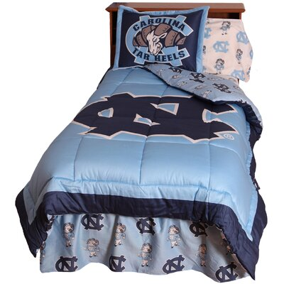 NCAA North Carolina Reversible Comforter Set Size: Full