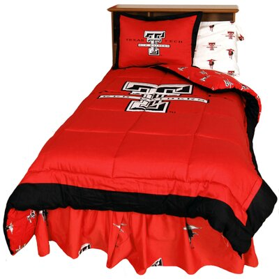 NCAA Texas Tech Reversible Comforter Set Size: Queen