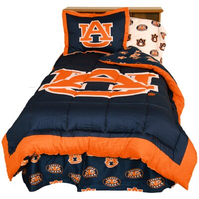 NCAA Auburn Reversible Comforter Set Size: Full