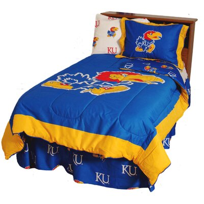 NCAA Kansas Reversible Comforter Set Size: Twin
