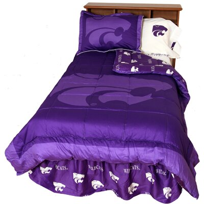 NCAA Kansas State Reversible Comforter Set Size: Twin