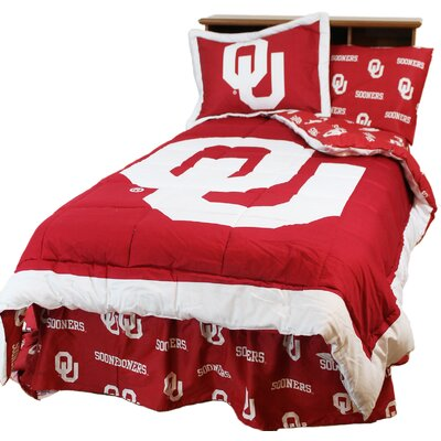NCAA Oklahoma Reversible Comforter Set Size: King