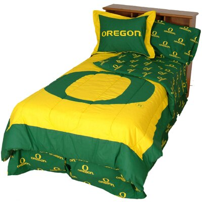 NCAA Oregon Reversible Comforter Set Size: King