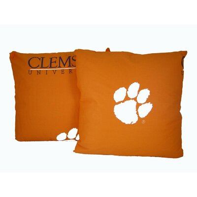 NCAA Clemson Cotton Throw Pillow