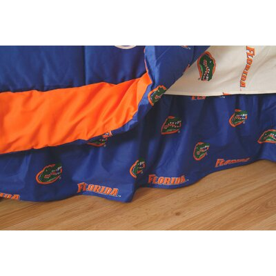 NCAA Florida Gators Printed Dust Ruffle Size: Queen