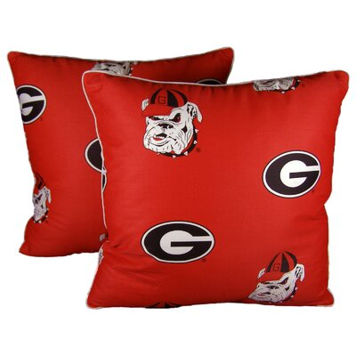 NCAA Georgia Cotton Throw Pillow