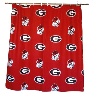 NCAA Georgia Cotton Printed Shower Curtain