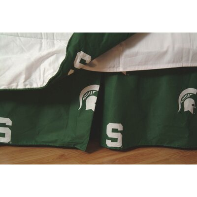 NCAA Michigan State Dust Ruffle Size: King