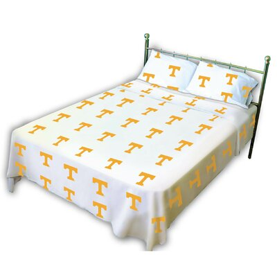 College Covers NCAA Tennessee Printed Sheet Set - Size: Twin