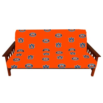 NCAA Box Cushion Futon Slipcover NCAA Team: Auburn