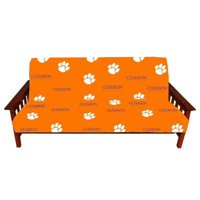 NCAA Box Cushion Futon Slipcover NCAA Team: Clemson