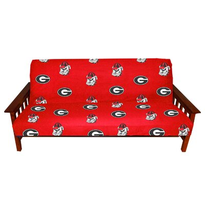 NCAA Box Cushion Futon Slipcover NCAA Team: Georgia
