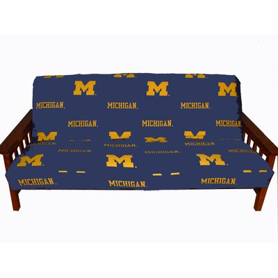 NCAA Box Cushion Futon Slipcover NCAA Team: Michigan
