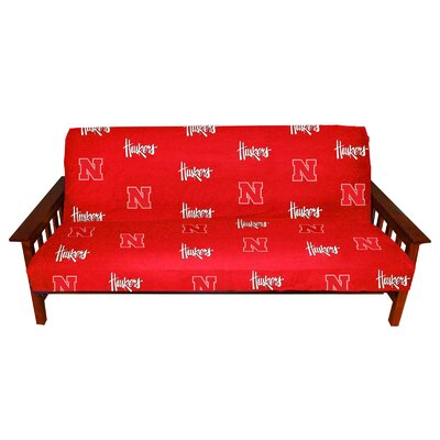 NCAA Box Cushion Futon Slipcover NCAA Team: Nebraska