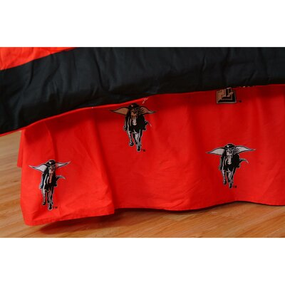 NCAA Texas Tech Dust Ruffle Size: Twin