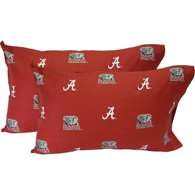 Collegiate Alabama Crimson Tide Pillowcase Size: Standard