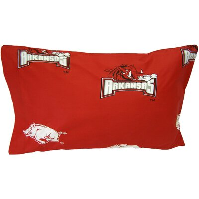 NCAA Arkansas Razorbacks Pillowcase Size: King