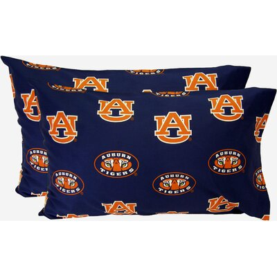 Collegiate NCAA Auburn Pillowcase Size: King