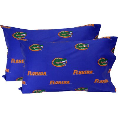 Collegiate NCAA Florida Gators Pillowcase Size: King