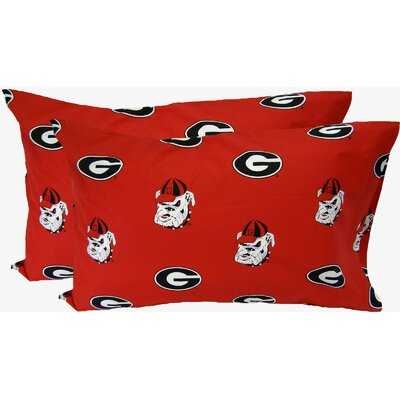 Collegiate Georgia Bulldogs Pillowcase Size: King
