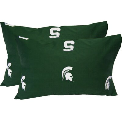 Collegiate Michigan State Spartans Pillowcase Size: King