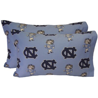 NCAA North Carolina Tar Heels Pillowcase Size: Standard