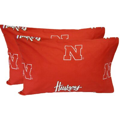 NCAA Nebraska Cornhuskers Pillowcase Size: King