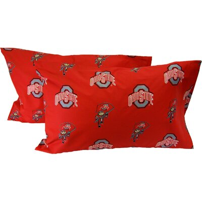 NCAA Ohio State Buckeyes Pillowcase Size: King