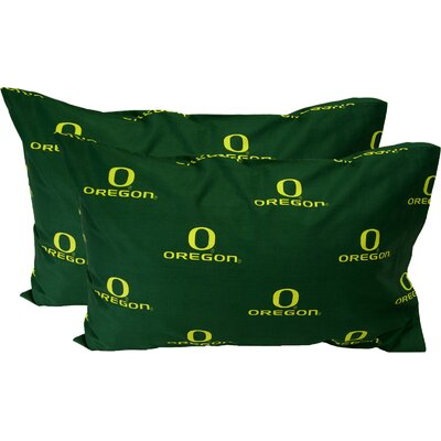 NCAA Oregon Pillowcase Color: Solid