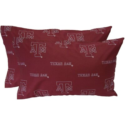 NCAA Texas A&M Aggies Pillowcase Size: King