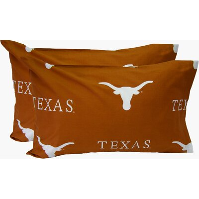 Collegiate NCAA Texas Longhorns Pillowcase Size: Standard