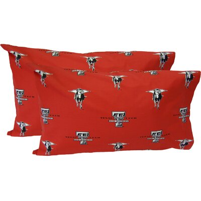 Collegiate NCAA Texas Tech Red Raiders Pillowcase Size: King