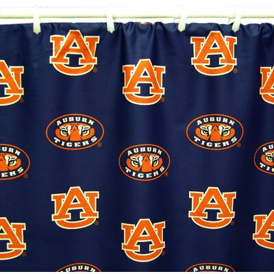 NCAA Auburn Cotton Printed Shower Curtain