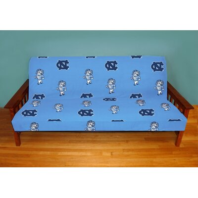 NCAA Box Cushion Futon Slipcover NCAA Team: North Carolina