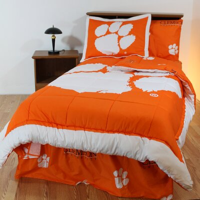 NCAA Clemson Reversible Bed in a Bag Set Size: Queen
