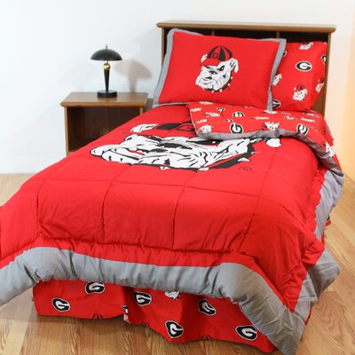 NCAA Georgia Reversible Bed in a Bag Set Size: Queen