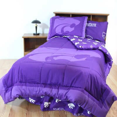NCAA Kansas State Reversible Bed in a Bag Set Size: King