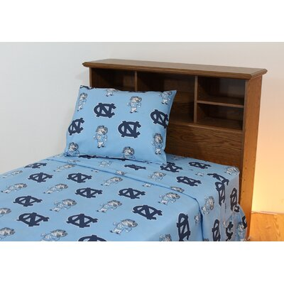 College Covers NCAA Printed Sheet Set with Team Colored Sheets - Size: Full, NCAA Team: North Carolina at Sears.com
